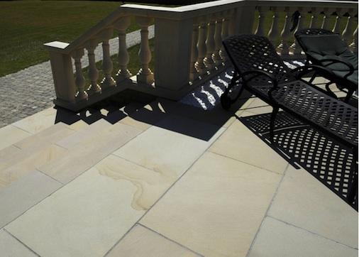 Sandstone Tile Stairs